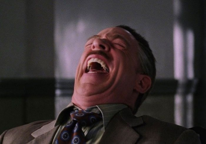 J. Jonah Jameson Laughing