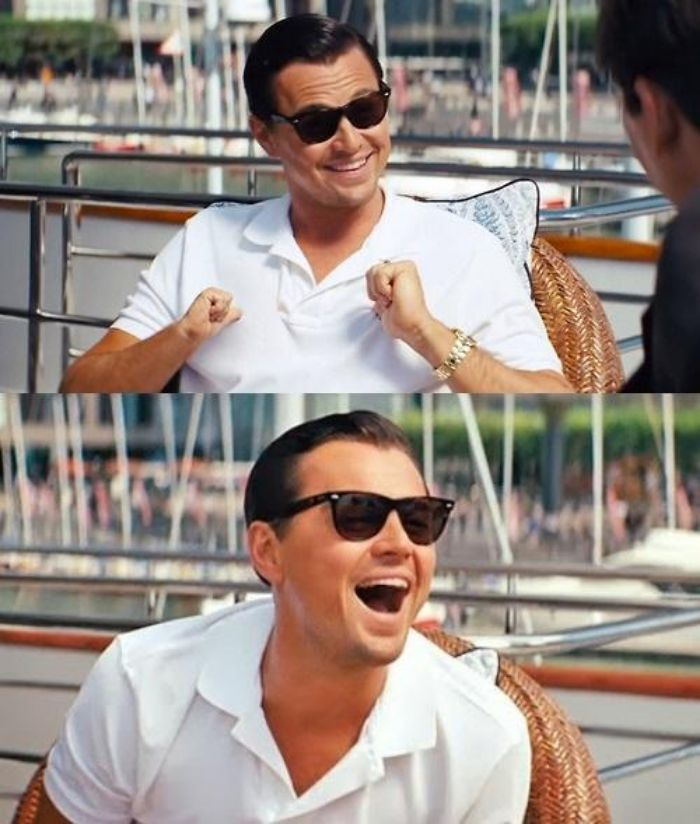 Leonardo Dicaprio On A Boat Wolf Of Wall Street